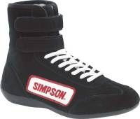 Racing Shoes - Simpson Racing Shoes - Simpson Race Products - Simpson Hightop Driving Shoes - Black - Junior