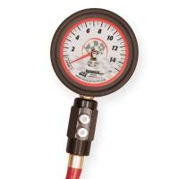 "Longacre Racing Products - Longacre Deluxe 2-1/2"" Glow-In-The-Dark Tire Pressure Gauge 0-15 psi By 1/4 lb - Image 2"
