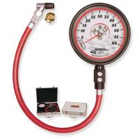 "Tire Gauges - Standard Tire Pressure Gauges - Longacre Racing Products - Longacre Pro Precision 4-1/2"" Tire Pressure Gauge 0-60 psi By-1/2"" Lb"
