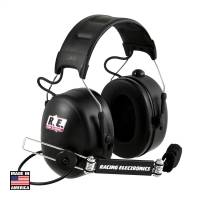 Radio System Parts & Accessories - Radio Headsets - Racing Electronics - Racing Electronics Platinum Black Headset