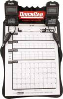 Tools & Pit Equipment - QuickCar Racing Products - QuickCar Clipboard Timing System - Black - (2) Robic SC505 Watches