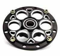 "Mini / Micro Sprint Front Suspension - Mini Sprint Hubs - Weld Racing - Weld 10"" Black Magnum Front Hub w/ 3-Lug Rotor Mount - 1"" Spindle"