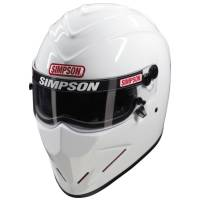 Helmets - Simpson Helmets - Simpson Race Products - Simpson Diamondback Helmet - White