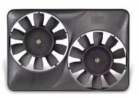 "Electric Fans - Flex-a-Lite Electric Fans - Flex-A-Lite - Flex-a-lite Direct fit dual 8 5/8 inch electric fan for drag racing ""Scirocco"" radiator"
