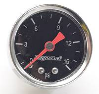 Carburetor Accessories - Fuel Line Pressure Gauges - MagnaFuel - MagnaFuel Low Pressure Fuel Gauge 0-15 psi