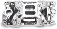 Chevrolet C10 Air and Fuel - Chevrolet C10 Intake Manifolds - Edelbrock - Edelbrock RPM Air Gap Intake Manifold - Endurashine