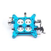 "Carburetor Service Parts - Base Plates - Quick Fuel Technology - Quick Fuel Technology Billet throttle body 1-11/16"" Blue Alky - No Tubes -"