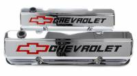 Proform Performance Parts - Proform Slant-Edge Valve Cover - Bow Tie Emblem - Chrome - Image 1