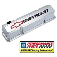 Proform Performance Parts - Proform Slant-Edge Valve Cover - Bow Tie Emblem - Chrome - Image 3
