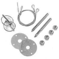 "Mr. Gasket - Mr. Gasket Competition Hood & Deck Pinning Kit - Includes Scuff Plates / Two 24"" Lanyard Cables / Two Torsion Clips / Hardware - Image 3"
