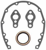 Timing Cover Gaskets - Timing Cover Gaskets & Seals - SB Chevy - Edelbrock - Edelbrock Timing Cover Gasket and Oil Seal Kit - Includes Front Cover Gasket/Front Seal