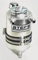 "Stef's Fabrication Specialties - Stef's Drag Race Aluminum Dry Sump Tank - 5 Qt. - 7"" Diameter x 17"" - Image 2"