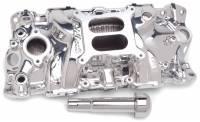 Intake Manifolds - SB Chevy - Edelbrock Intake Manifolds - SBC - Edelbrock - Edelbrock Performer EPS Intake Manifold - Endurashine