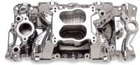 Intake Manifolds - Intake Manifolds - Small Block Chevrolet - Edelbrock - Edelbrock Performer Air-Gap Series Intake Manifold - Endurashine