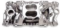 Intake Manifolds - SB Chevy - Edelbrock Intake Manifolds - SBC - Edelbrock - Edelbrock Performer Air-Gap Series Intake Manifold - Endurashine