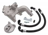 Oil Filters Adapters & Mounts - Remote Oil Filter Mounts - Edelbrock - Edelbrock Oil Filter Relocation Kit - For Use w/ (1581/1583)