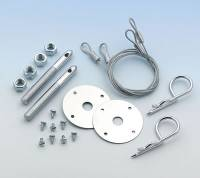 "Mr. Gasket - Mr. Gasket Competition Hood & Deck Pinning Kit - Includes Scuff Plates / Two 24"" Lanyard Cables / Two Safety Pins / Hardware - Image 3"