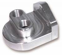 "Oil Filters Adapters & Mounts - Remote Oil Filter Mounts - Earl's Performance Products - Earl's Billet Filter Bracket 3/4""-16"