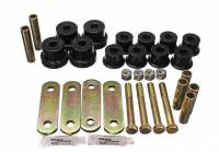 Chevrolet Camaro (1st Gen) Suspension and Components - Chevrolet Camaro (1st Gen) Bushings and Mounts - Energy Suspension - Energy Suspension Heavy Duty Shackle Set - Black