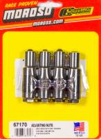 "Rocker Arms and Components - Rocker Stud Girdle Replacement Components - Moroso Performance Products - Moroso 7/16"" Rocker Studs Adjustable Nut (4 Pack)"
