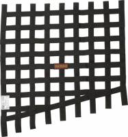 Ribbon Window Nets - Drag Window Nets - RaceQuip - RaceQuip Window Net Drag 24 to 18x23 SFI Black