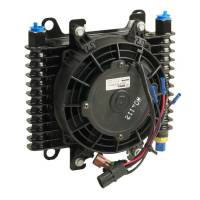 Oil Cooler - Oil Coolers - B&M - B&M Hi-Tech Transmission Cooler w/ Electric Fan