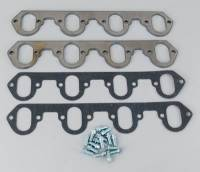 """Header Components and Accessories - Header Flanges - Hedman Hedders - Hedman Hedders SB Chevy 1.75"""" Flanges Oval Port"""