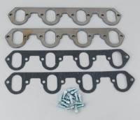 "Header Components and Accessories - Header Flanges - Hedman Hedders - Hedman Hedders Hedder Flange Kit - BB Chevy 2"" Round Port"
