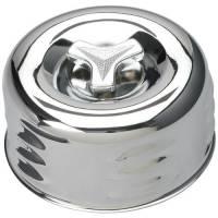 "Trans-Dapt Performance - Trans-Dapt Chrome Air Cleaner - Louvered Style 4 5/8"" Diameter - Image 2"