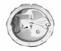 Trans-Dapt Performance - Trans-Dapt Differential Cover Kit - Chrome - Includes Bolts and Gasket - Image 1
