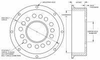 "Wilwood Engineering - Wilwood Pro Street Hat - Standard - 8"" x 7.62"" Bolt Circle - 2"" Offset - Image 3"