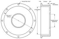 "Wilwood Engineering - Wilwood Drag Hat - Standard - 8 x 7.00"" Bolt Circle - 1.59"" Offset - Image 3"