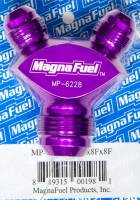 MagnaFuel - MagnaFuel Y-Fitting - 1 #12 AN Male & 2 #8 AN Male - Image 1