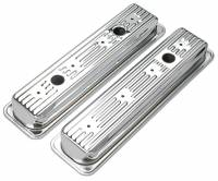 Trans-Dapt Performance - Trans-Dapt Chrome Plated Steel Valve Covers - Short Style - Image 1