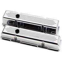 Billet Specialties - Billet Specialties Polished SB Chevy Tall Valve Covers - Ball-Milled - SB Chevy - (Set of 2) - Image 1