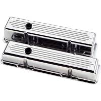 Billet Specialties - Billet Specialties Polished SB Chevy Tall Valve Covers - Ball-Milled - SB Chevy - (Set of 2) - Image 2