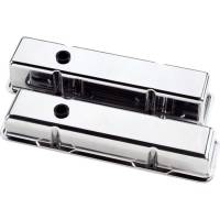 Valve Covers & Accessories - Aluminum Valve Covers - SB Chevy - Billet Specialties - Billet Specialties SB Chevy Plain Valve Covers - SB Chevy - (Set of 2)