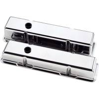 Billet Specialties - Billet Specialties SB Chevy Plain Valve Covers - SB Chevy - (Set of 2) - Image 2