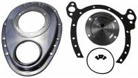 Valve Train Components - Timing Covers - Cloyes - Cloyes Aluminum Timing Cover - SB Chevy w/ BB Chevy Snout 2 Piece