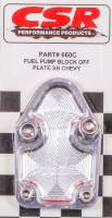Air & Fuel System - CSR Performance Products - CSR Performance SB Chevy Fuel Pump Block-Off Plate - Clear
