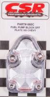 Fuel Pump Parts & Accessories - Fuel Pump Block-Off Plates - CSR Performance Products - CSR Performance SB Chevy Fuel Pump Block-Off Plate - Clear