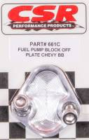 Fuel Pump Parts & Accessories - Fuel Pump Block-Off Plates - CSR Performance Products - CSR Performance BB Chevy Fuel Pump Block-Off Plate - Clear