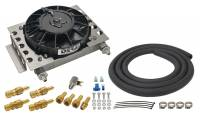 Drivetrain - Derale Performance - Derale 15 Row Atomic Cool Plate & Fin Remote Transmission Cooler Kit -6AN