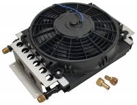 Oil Cooler - Oil Coolers - Derale Performance - Derale 16 Pass Electra-Cool Remote Cooler, -8AN Inlets