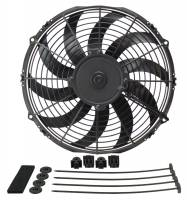 "Cooling & Heating - Derale Performance - Derale 12"" High Output Curved Blade Electric Puller Fan"