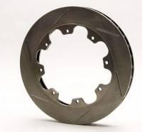 """AFCO Racing Brake Rotors - AFCO Pillar Vane Slotted Brake Rotors - AFCO Racing Products - AFCO Pillar Vane Slotted Rotor - 11.75"""" x 1 .25"""" - 8  Bolt -LH"""
