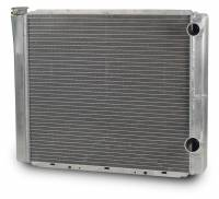 "Cooling & Heating - AFCO Racing Products - AFCO Aluminum Double Pass Radiator - 19"" x 24"" - Inlet 1-1/2"" Right, Outlet 1-3/4"" Right"