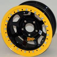"Wide 5 Wheels - 15"" x 10"" Wide 5 Wheels - Aero Race Wheel - Aero 53 Series Rolled Beadlock Wheel - Black - 15"" x 10"" - Wide 5 - 4"" Back Spacing - 24 lbs."