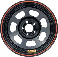 "4 x 4-1/2"" Bolt Pattern Wheels - 14"" x 7"" - 4 x 4-1/2""  Wheels - Bassett Racing Wheels - Bassett D-Hole Lightweight Wheel - 14"" x 7"" - 5 x 100mm Bolt Circle - 2"" Back Spacing - Black - 15 lbs."