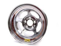 "Bassett Inertia 15"" x 10"" - Bassett Inertia 15"" x 10"" - 5 x 5"" - Bassett Racing Wheels - Bassett Inertia Advantage Wheel - 15"" x 10"" - 5 x 5"" - Chrome - 4"" Back Spacing - 20 lbs."